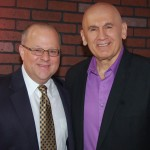 Joe with client, John Monte, Owner, President of JMI Financial Services.