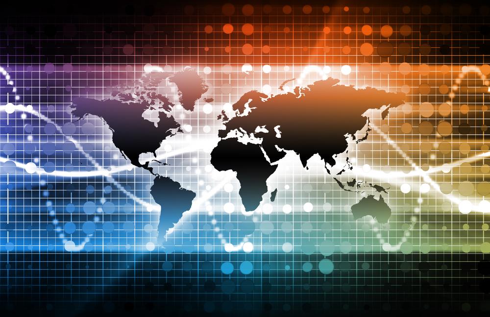 Latest International News Update with Globe Map